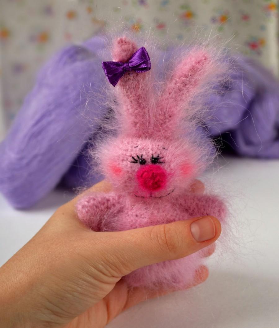زفاف - Pink Bunny stuffed doll Amigurumi bunny Toy Miniature Animals Rabbit Stuffed Toys pluch Rabbits plush bunny toy pink rabbit christmas gift