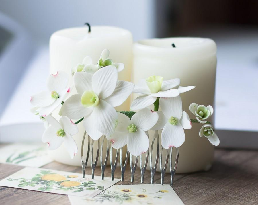 Bridal Hair Comb - Flower Hair Comb - Daffodil, Dogwood, Snowdrop ...