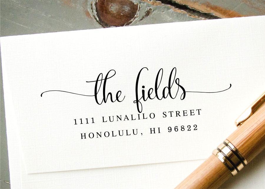 Wedding - Custom Address Stamp, Self-Inking Stamp, Return Address Stamp, Custom Rubber Stamp, Custom Stamp, Personalized Stamp, Valentines Day Gift