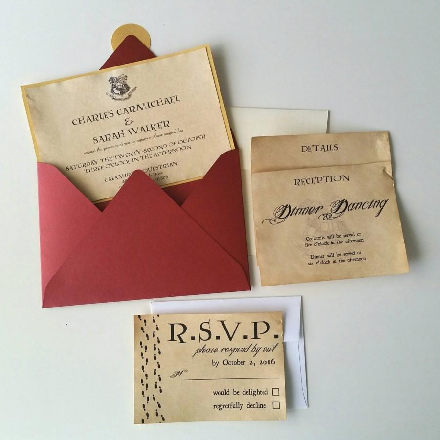 Harry Potter Theme Wedding Invitation - 5 X 7 #2607923 - Weddbook