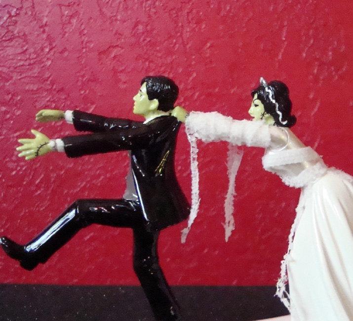 Mariage - Frankenstein Wedding Cake Topper ~ Ready to Ship
