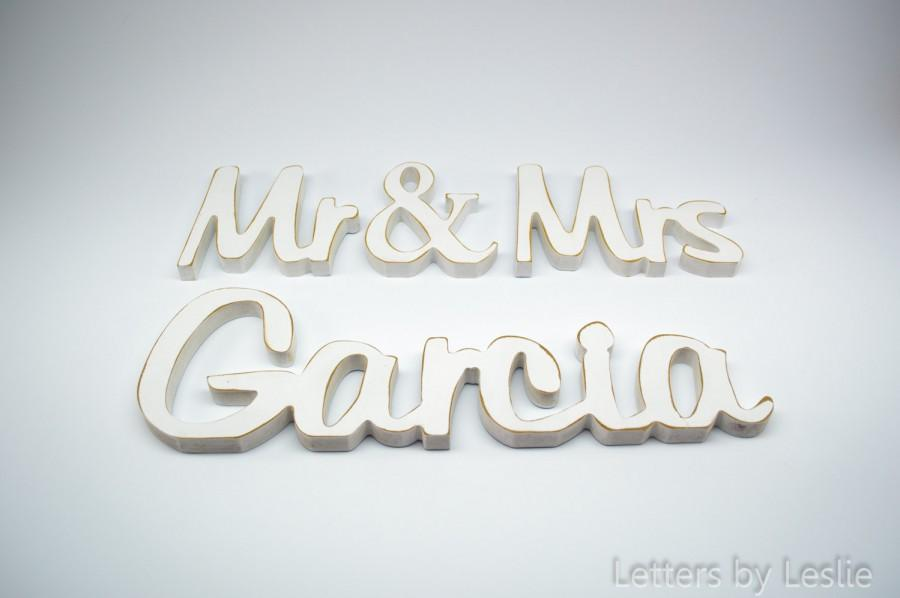 Mariage - Mr & Mrs Wedding sign with Last name, Rustic wedding signs, Shabby Chic, Mr and Mrs,Wooden name sign, Wedding sign, Wedding Decor, Garcia