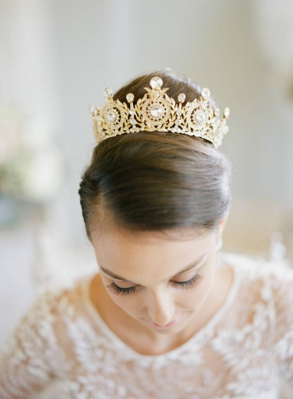 Mariage - Bridal Crown, Swarovski Crystal Wedding Crown, TANYA Edwardian Crystal Bridal Full Crown, Wedding Tiara, Diamante Tiara, Bridal Tiara