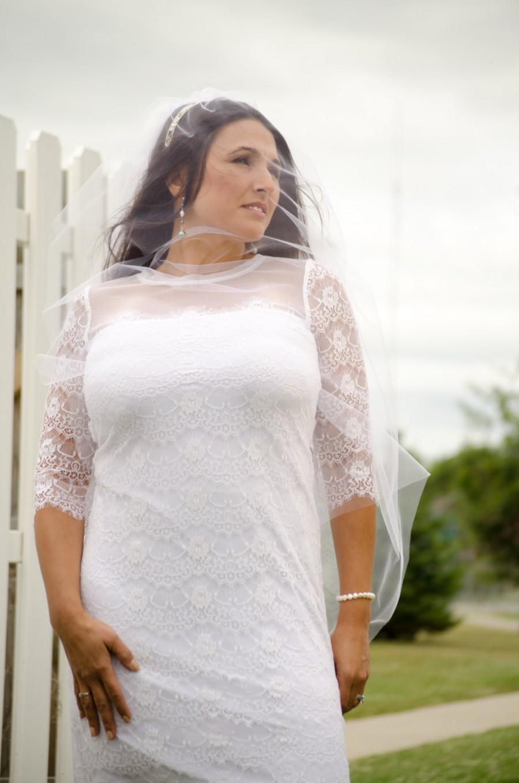 Wedding - Butterfly Wings Wedding Veil with Swarovski Crystal Headband