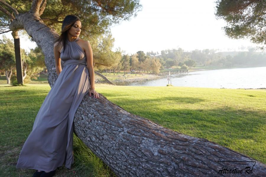 Mariage - Gray Dress, Gray Bridesmaid Dress, Silver Prom Dresses, Silver Dress, Gray Prom Dress, Long Gray Dress, Grey Wedding Dress, Grey Prom Dress