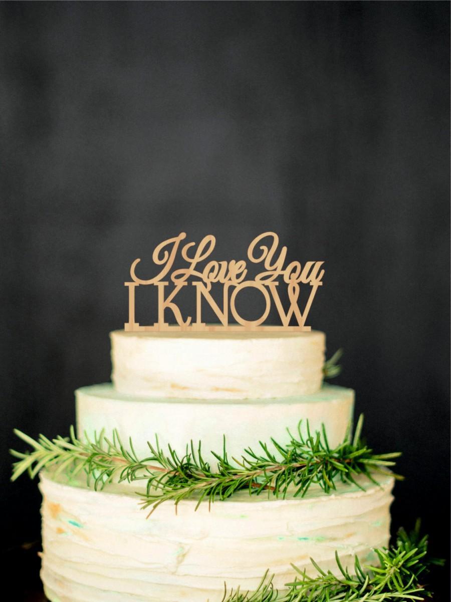 زفاف - Star Wars Inspired Cake Topper I Love you I Know Wedding Cake Topper Gold Topper Silver Cake Topper