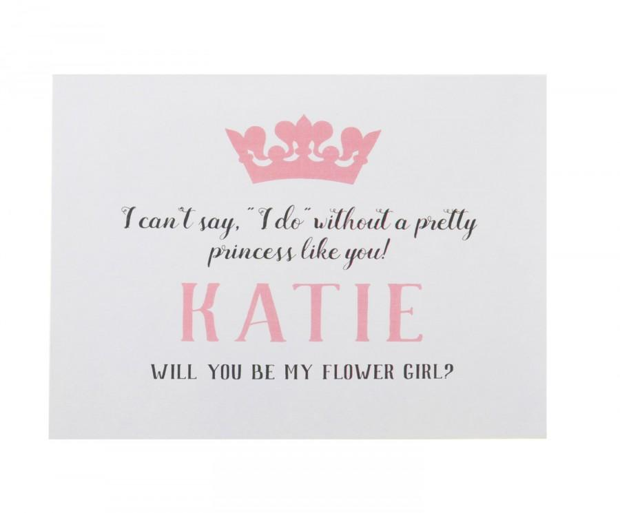 Princess Flower Girl Card Flower Girl Proposal Will You Be My