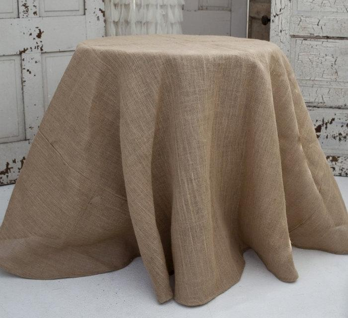 Mariage - Burlap Tablecloths, Hessian, SHIPS 1 DAY, Round or Square Overlays, Fall wedding, Winery wedding, Thanksgiving, Halloween
