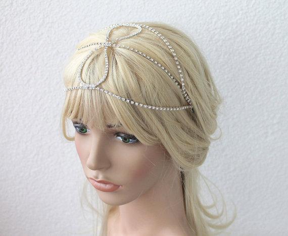 Wedding - Wedding Tiara, Bridal Tiara, Wedding Headband, Rhinestone Headband, Bridal Hair Accessory, Wedding Hair Accessory, Rhinestone Halo