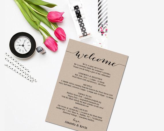 wedding itinerary printable itinerary editable itinerary