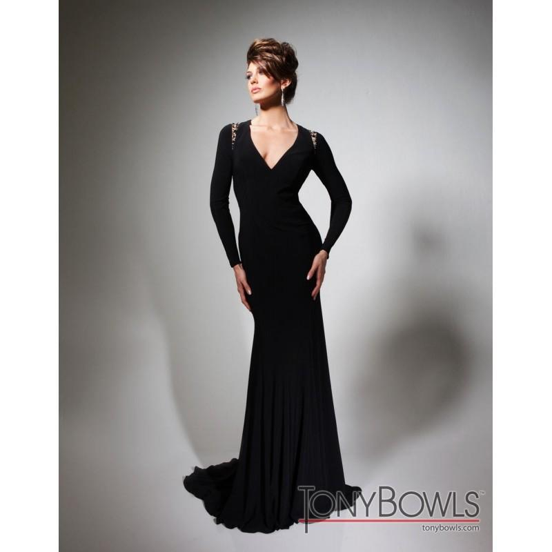 Wedding - Budget 2014 Long Bodice Tony Bowls Evenings Tbe21389 Sleeve Gown - Cheap Discount Evening Gowns