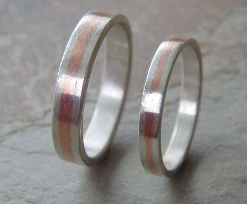 Mariage - SLIM Wedding Set 4 & 5 mm // Men's Wedding Ring // Women's Wedding Ring // Men's Wedding Band // Women's Wedding Band // Unique Band