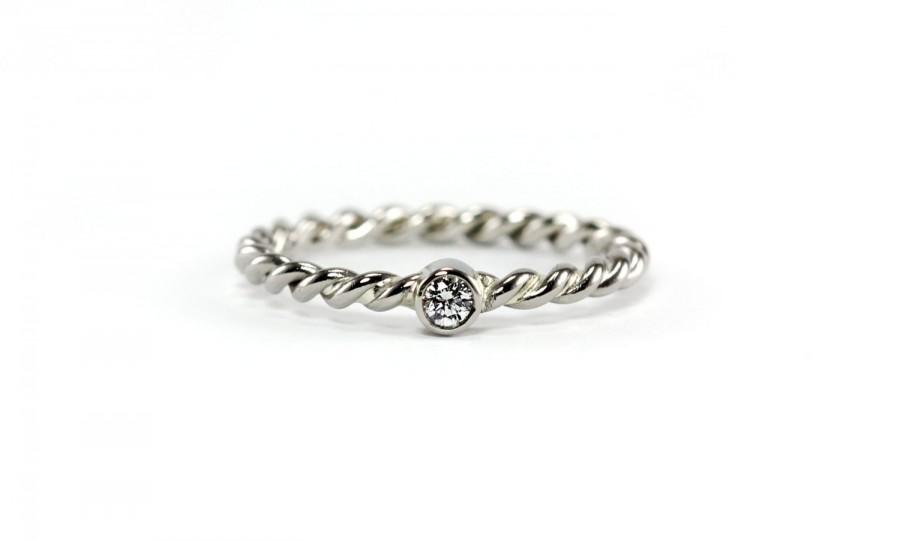 Conflict Free Diamond Twisted Band Ring Sterling Silver