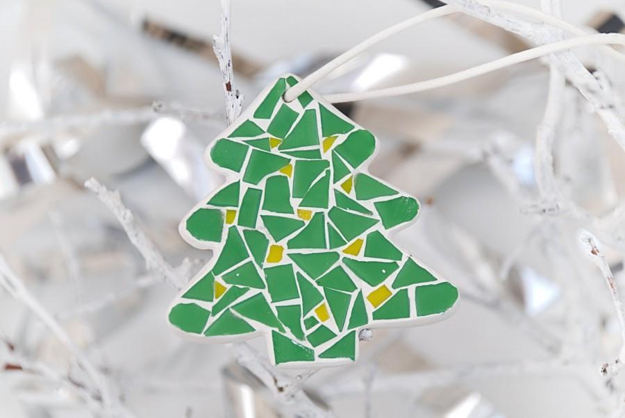 زفاف - Christmas tree Mosaic ornament Christmas decor Tree ornament Christmas New Year gift Christmas tree decoration Giftware Tradition ornament