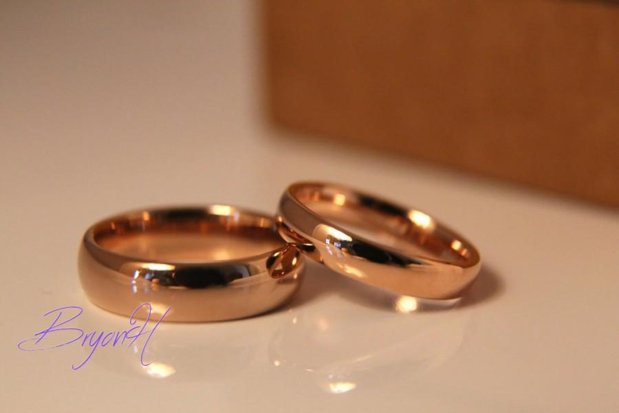 Rose Gold Tungsten Carbide Rings For Men And Women Rose Gold