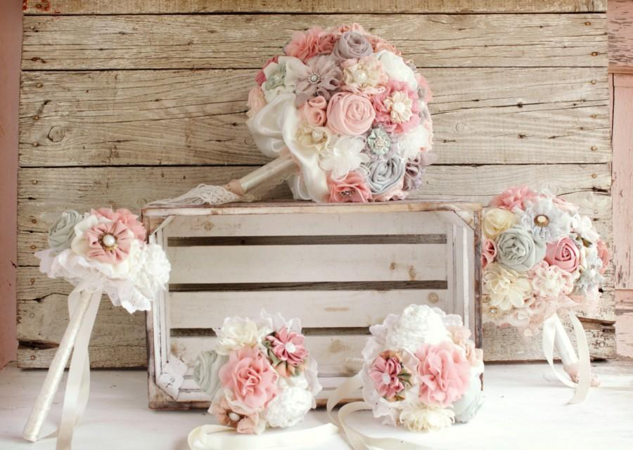 Mariage - Bridal bouquet set, Bridal bouquet, bridesmaid bouquets , rustic bouquet, wedding bouquet