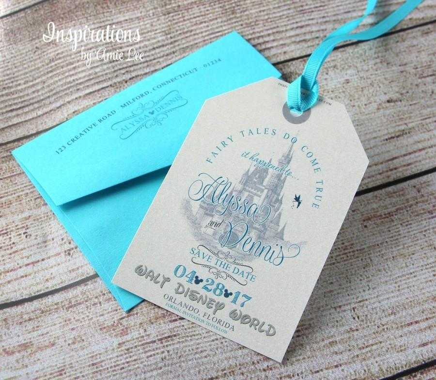 Disney Save The Dates Luggage Tags Save The Dates Fairy Tale