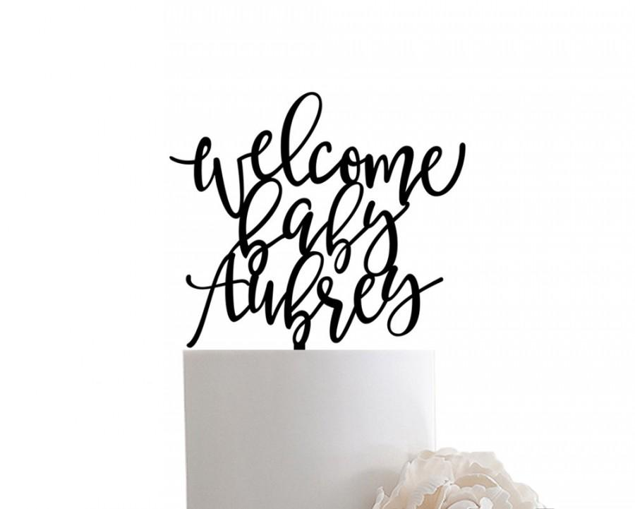 Mariage - Welcome Baby Name Cake Topper