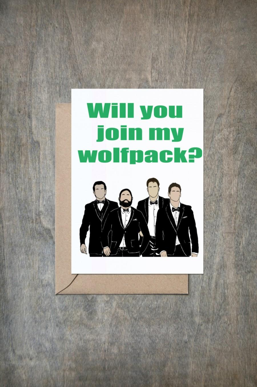 Свадьба - Will You Join My Wolfpack Card. Will You Be My Groomsmen Card. Funny Groomsmen Card. Groomsmen Card. Wedding Card. Groom. Best Man.
