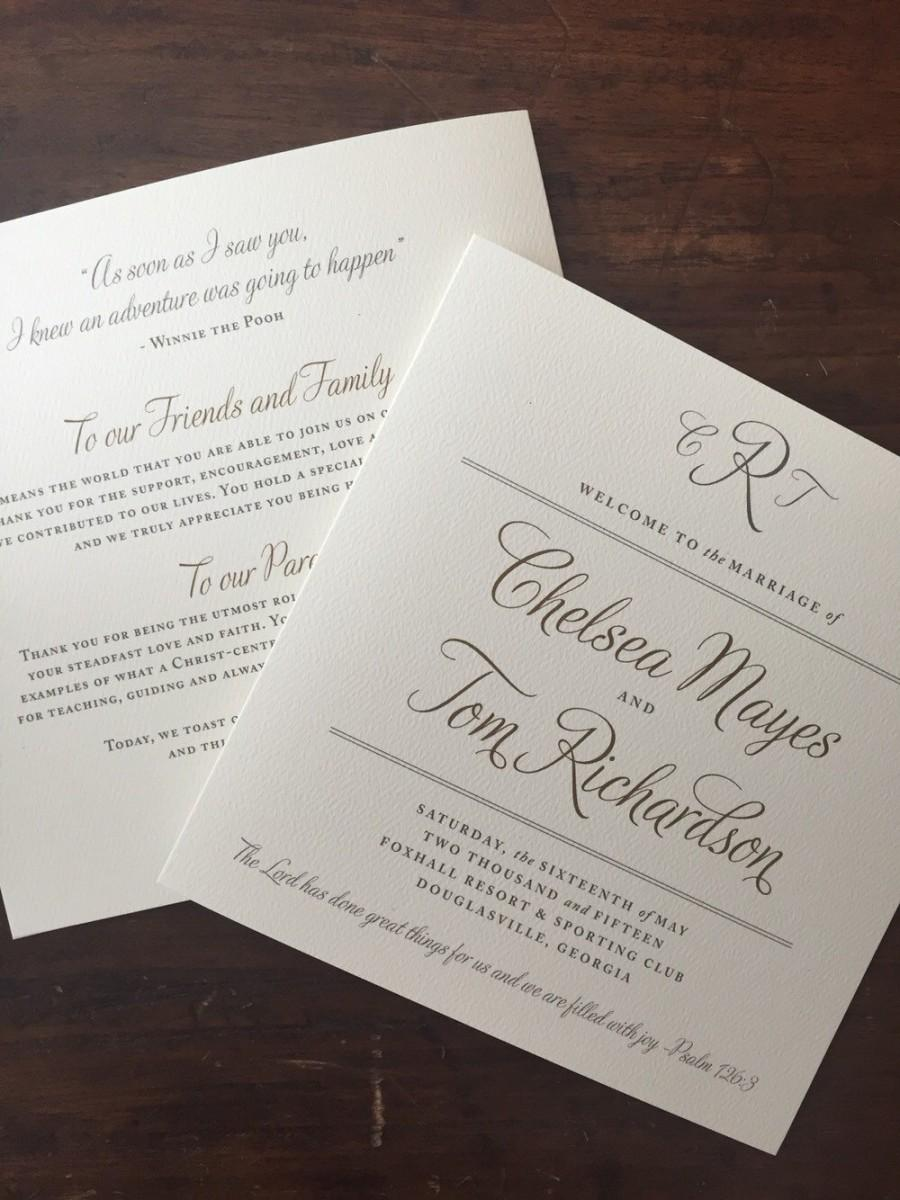 traditional wedding programs gold and cream purchase this