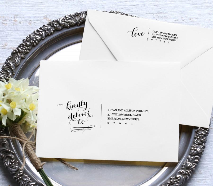 calligraphy address template wedding envelope printable diy