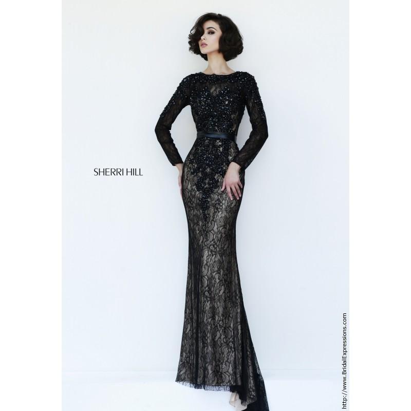 Wedding - Sherri Hill 4340 Lace Long Sleeve Prom Dress - Crazy Sale Bridal Dresses