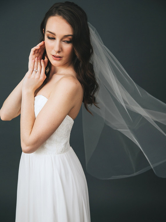 Mariage - Ivory Tulle Bridal Veil
