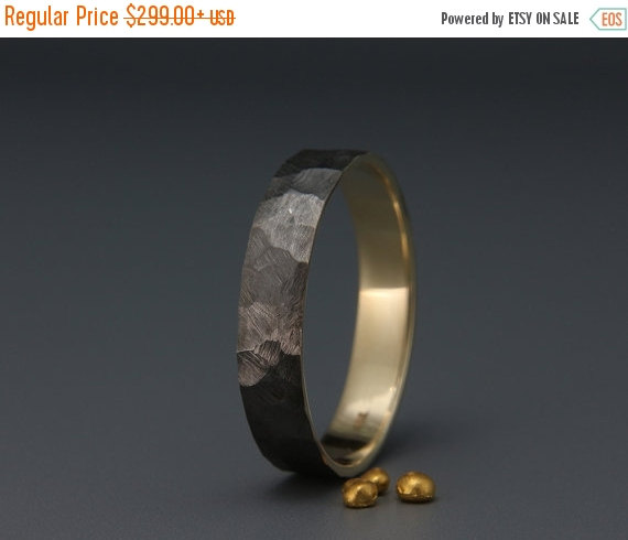 Hochzeit - Christmas SALE! Black Rhodium Men's wedding ring