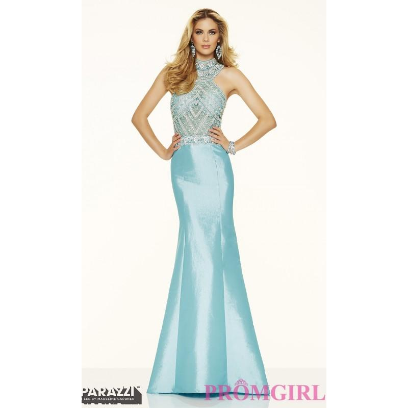 Свадьба - Long High Neck Open Back Taffeta Prom Dress by Mori Lee - Discount Evening Dresses