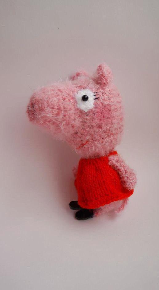 Wedding - Pink Piggy Peppa Hand-knitted Amigurumi Pig Toy Miniature Wool Piggy Dolls Pig plush animal Softie piggy Stuffed Pig Christmas decor toy