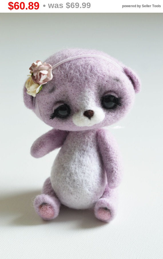 Wedding - LastAutumnSale Affectionate Bear // The toy is made of wool // Dry Felting // 2016 Best Trends // Surprise, gift, toy, souvenir, talisman...