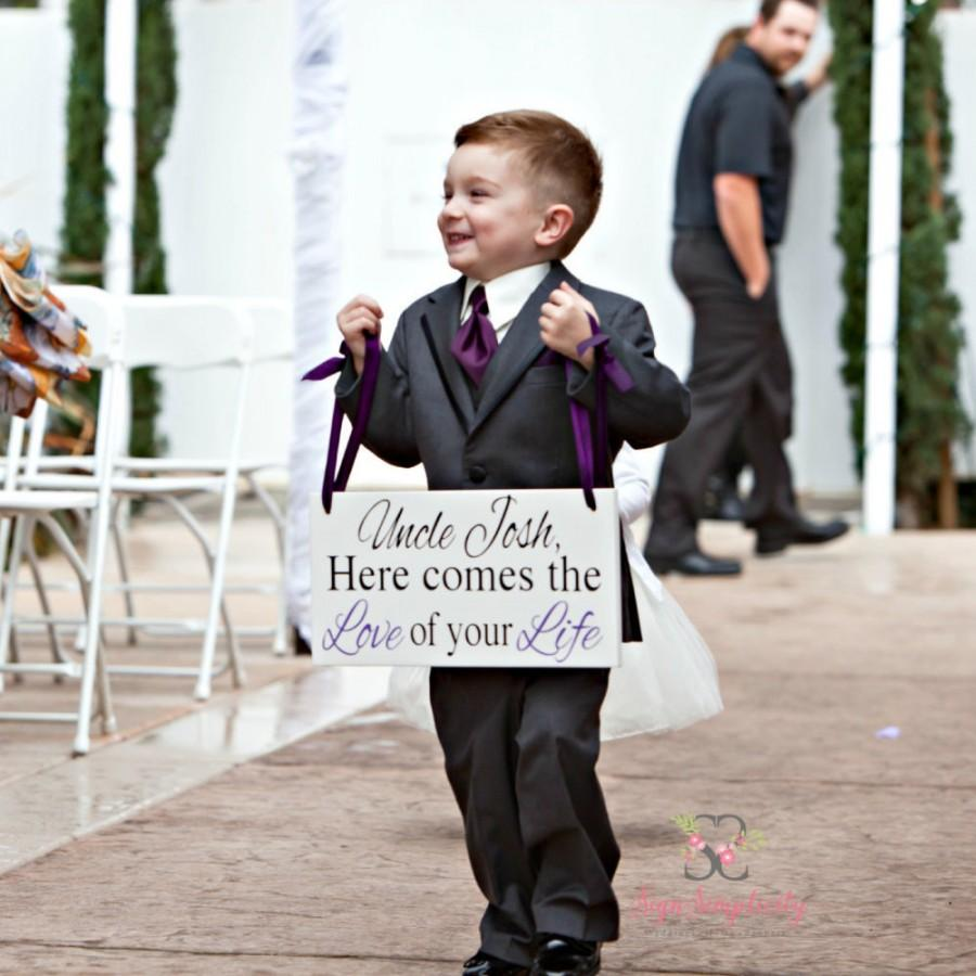Свадьба - Here comes the Love of your Life wedding sign