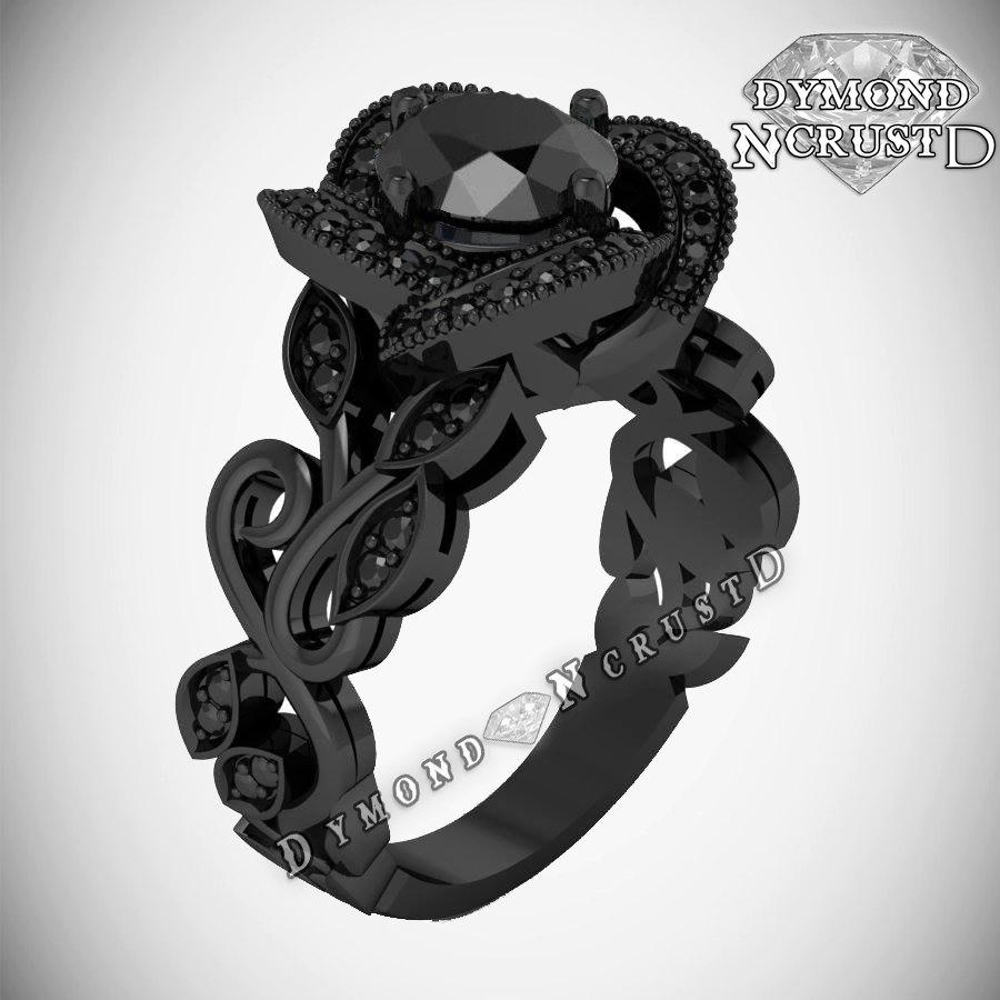 swarovski fullxfull king black jack il style inspired white listing rose wedding flower zoom rings rhodium pumpkin