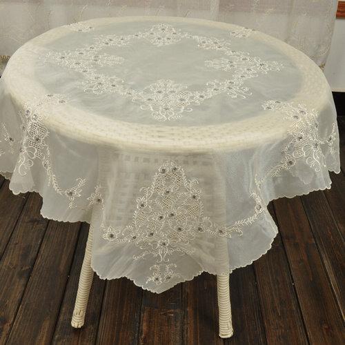 زفاف - 50%OFF , Shining Beaded Embroidery Tablecloth, Shabby Chic,