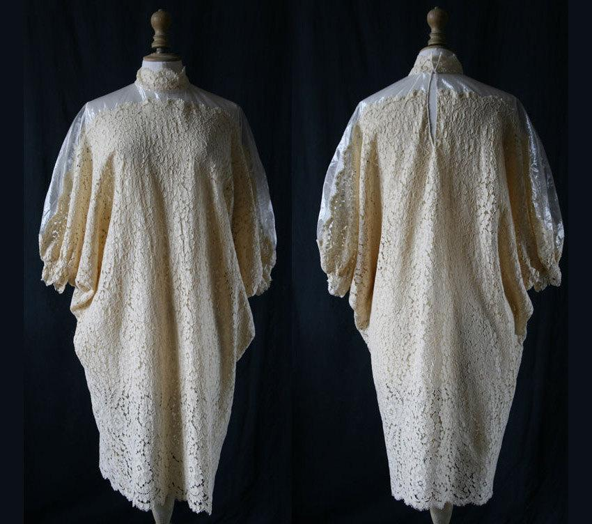 زفاف - 1980's French lace dress single model
