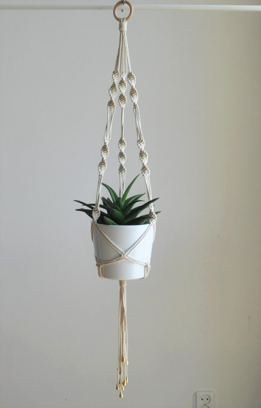 Wedding Plant Hanger Macrame Plant Hanger Boho Wedding Indoor Garden Planter Plant Pot