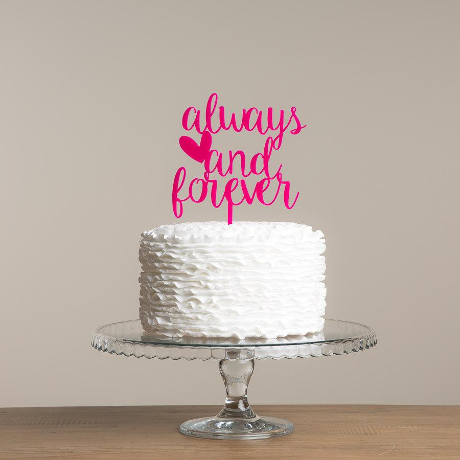 زفاف - Always And Forever wedding cake topper.