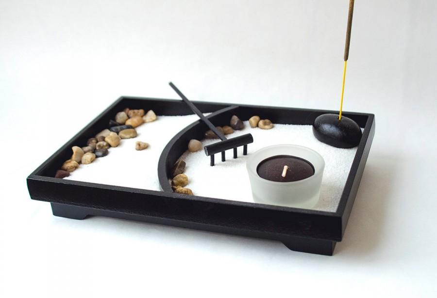 Zen Garden Desk Accessory Mini Zen Garden Office Decor Gift