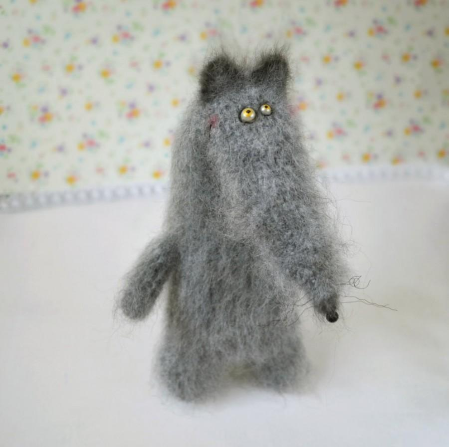 Свадьба - Wolf stuffed toy doll knitted wolf crochet wolf hand knit toy grey wolf funny toy plush wolf doll fuzzy wolf toy cute wolf amigurumi wolf