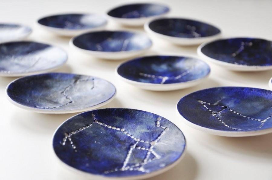 Wedding - Constellation Star Sign zodiac Jewellery dish, Ring dish, Catchall, birthday gift, astrolgy gift