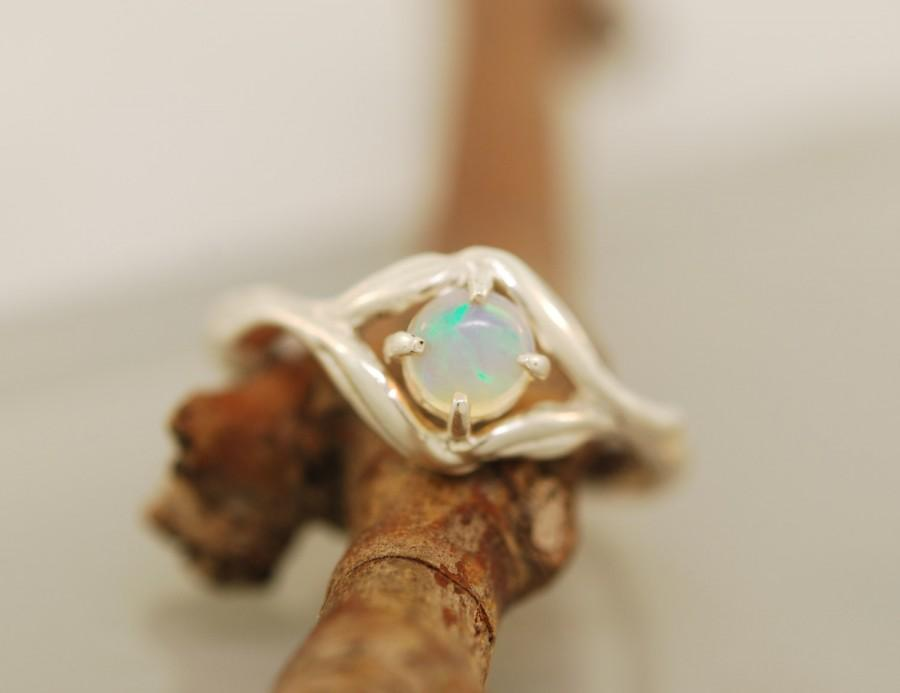 Свадьба - Olive Leaf  Collection, twig ring, alternative engagement ring, opal ring, twig ring, branch ring, opal twig ring