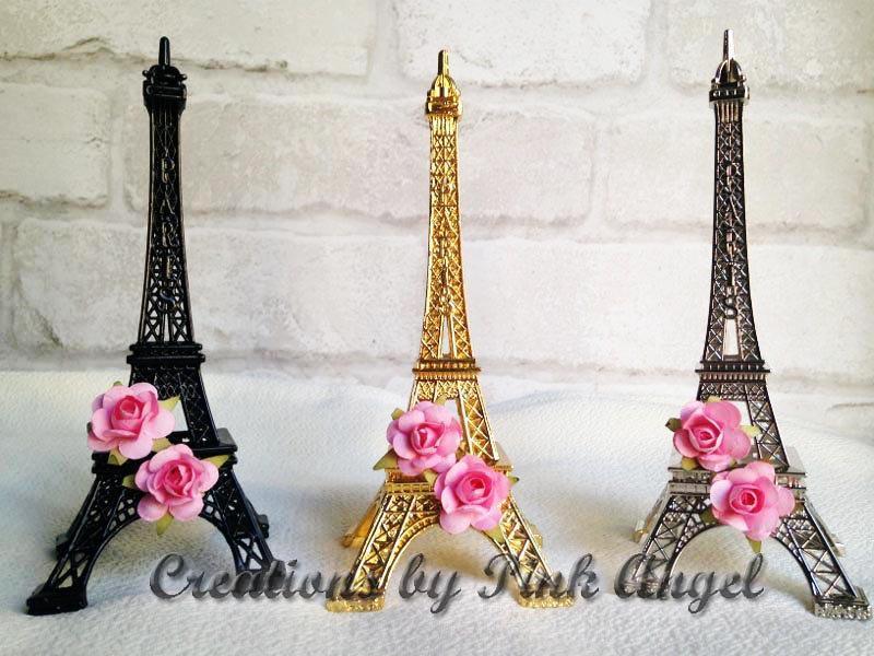 """زفاف - 6"""" Gold Eiffel Tower Favors, Eiffel Tower Centerpieces, Paris Baby Shower, Paris Wedding Favors, Silver Paris Centerpieces, 1 included"""