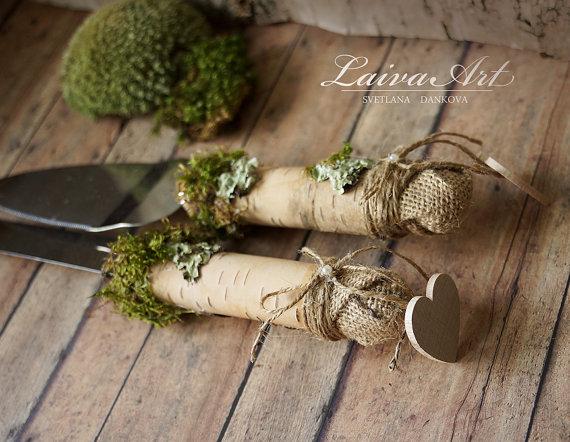 Свадьба - Personalized Rustic Wedding Cake Server Set & Knife Rustic Wedding Outdoor Wedding Barnyard Wedding