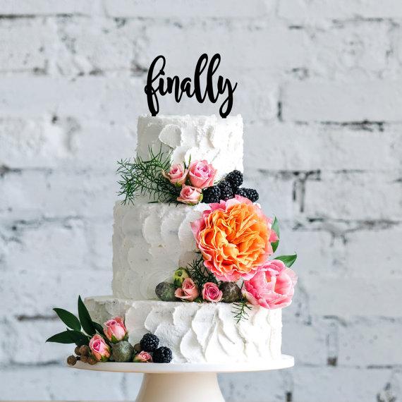 Hochzeit - Finally Cake Topper