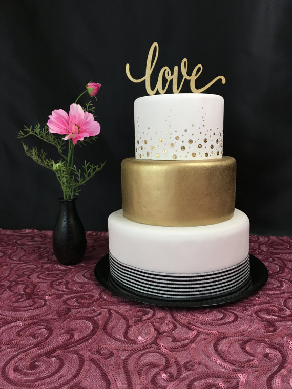 Love Cake Topper Wedding Cake Topper Cake Topper For Wedding