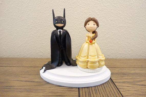 زفاف - Belle Cake Topper, Disney Wedding Cake Topper, Batman Cake Topper, Wedding Cake Topper, Custom Cake Topper