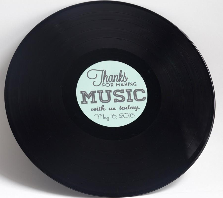 "Mariage - Custom 12"" Vinyl Record Wedding Guestbook"