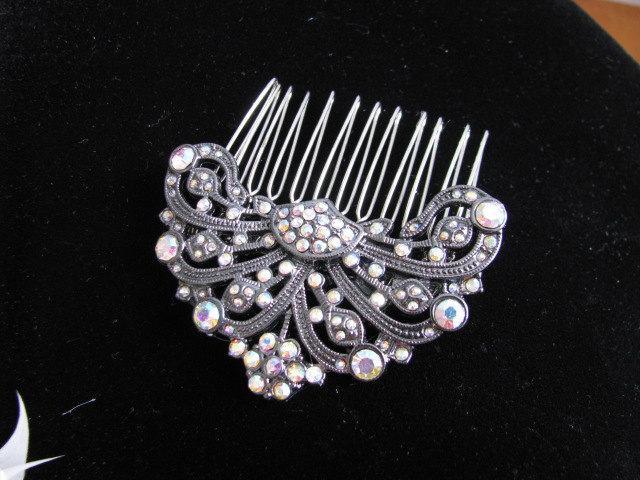 زفاف - Crystals and Rhinestone Bridal  Hair Comb Accessory Bridal Wedding Jewelry Pageant Jewelry