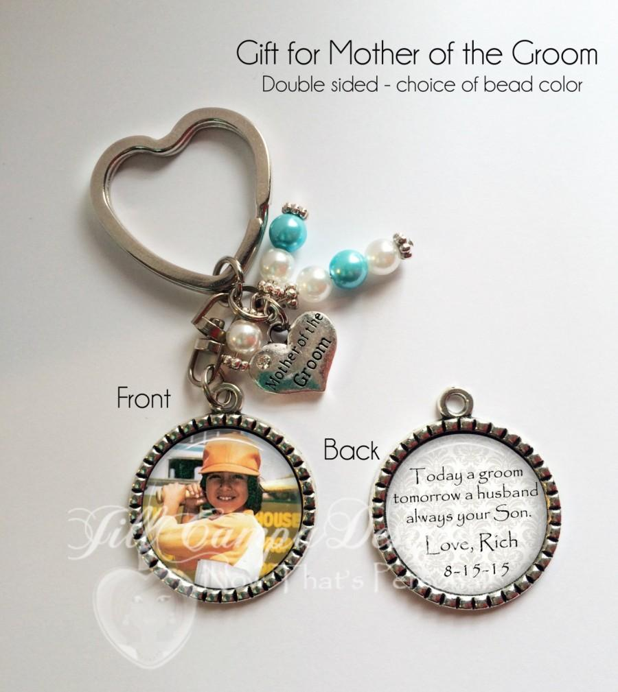 "Wedding - MOTHER of the GROOM GIFT - Mother of the Groom keychain - ""Today a Groom, Tomorrow a Husband, Always Your Son"" - Mom gift from Groom"