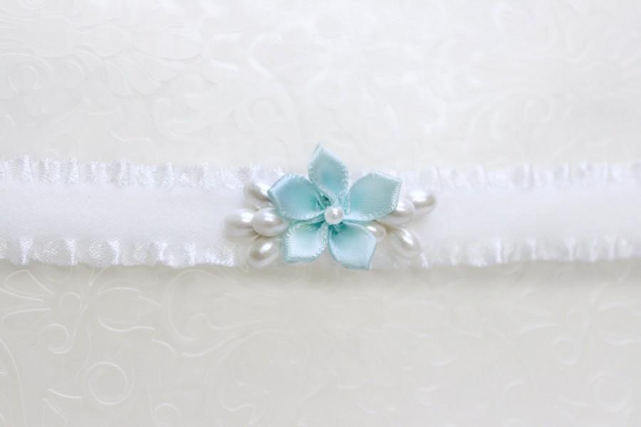 Свадьба - Something blue garder, Blue garter something blue for wedding, simple garter blue, wedding blue garter, simplistic garter Minimalist wedding